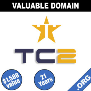 TC2.org Premium 3-Letter Domain – Age: 21 Years
